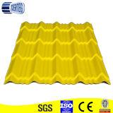 Azulejo de material para techos de acero clásico amarillo