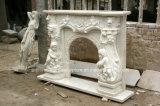 Lareira em mármore branco Carrara Sy-Mf316