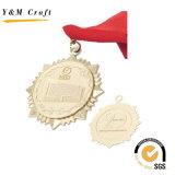 베스트셀러 금 금속 둥근 메달 관례 Ym1181