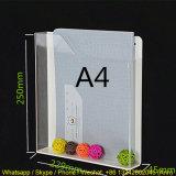 Étagère acrylique/crémaillère de livre/support acryliques en plastique brochure de plexiglass