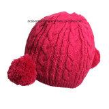 OEMの農産物はロゴの漫画によって刺繍された冬のアクリルの暖かいChlidrenの帽子の帽子をカスタマイズした