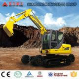 Excavador de la correa eslabonada de la rueda del rinoceronte, excavador de la máquina de la construcción, fábrica del excavador