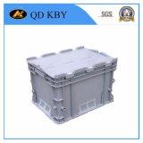 Caixa Stackable do Tote do armazenamento plástico resistente do assentamento da caixa da modificação com tampa