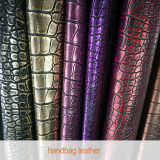 PVC Leather Leatherette de la PU del cocodrilo para Handbag Suppliers