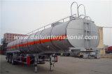 Acoplado líquido químico termal de 3 del árbol del carro petroleros del acero inoxidable semi