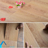 接着剤無しでPVC床の板のビニールシートをかみ合わせる滑り止めの木製の穀物クリック