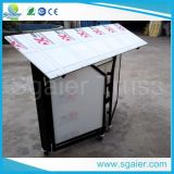 Einfaches Assembled Portable Folding Bar mit Brake Wheels, Lighted Bar Counter, Movable Bar
