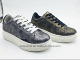 Ботинки женщин способа PU вскользь типа кожаный (ET-MTY160329W)