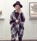 Шаль обруча шарфа шотландки Tassel теплых женщин зимы мягкая довольно длинняя Blanket