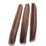 Extensão loura do cabelo humano de Remy da cor do destaque/do Weave cor do piano