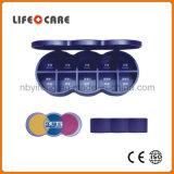 Pillbox médico com o Pillbox do plástico de /Weekly de 8 dias