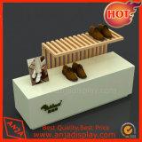 Étalage en bois de Tableau de chaussures pour la mémoire