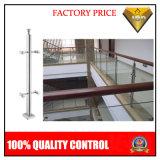 Escadas do aço inoxidável com manufatura de vidro das etapas (JBD-B98)