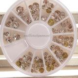 못 예술 아름다움 수정같은 모조 다이아몬드 훈장 주옥 매니큐어 (D77)
