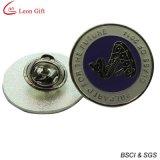 Großhandelsdecklack-Silber-rundes Abzeichen für Förderung-Geschenk (LM1741)