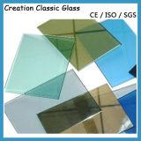 12mm Reflective Faible-e Glass pour Bâtiment avec Ce et L'ISO9001