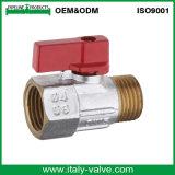 Mini válvula de esfera de bronze cromada de lustro (AV1045)