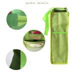 Sacchetto artistico personalizzato blu-chiaro verde nero della maniglia di marchio
