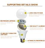 Luz de alumínio do diodo emissor de luz do bulbo do diodo emissor de luz