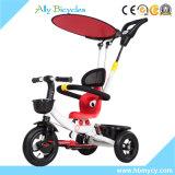 Bebé Trike del pabellón del paraguas con el triciclo de niños de /Portable de la barra del empuje para la excursión rápida