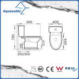 Toalete cerâmico de duas partes nivelado duplo do Washdown (ACT5222)