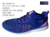 Numéro 49426 trois chaussures d'action de sport de femmes de couleur