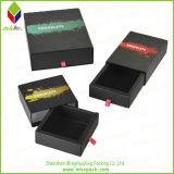 Schwarzes Plättchen-geöffneter Verpackungs-Papier-Geschenk-Kasten für Schmucksachen