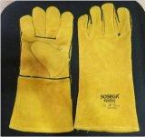 Beständige Sicherheits-lederne Arbeitsschweißens-Handschützende Sicherheits-Handschuhe schneiden