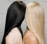 Cabelo 100% europeu do Virgin Sheitels injetado parte superior Wigs-22 Kosher ""