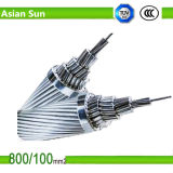 Linha de transmissão aérea 2/0 AWG ACSR Bare Conductor