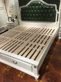 Новая кровать кожи типа Ciff Америка прибытия, корейская кожаный кровать (L097)