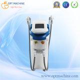equipamento da remoção do cabelo do IPL do uso do salão de beleza 2handles para o rejuvenescimento da pele