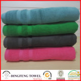 2016 Sales caldo Organic 100% Cotton Thick Jacquard Bath Towel con Satin Border Df-S367