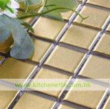 Goldene keramische Mosaik-Fliese (WH-D867)