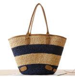 Grand sac occasionnel tissé de paille de plage de capacité par sac