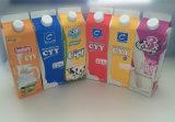 1L 알루미늄 호일을%s 가진 신선한 우유 또는 주스 또는 크림 또는 포도주 또는 물 박공 상단 판지 상자