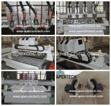 1813-4 fresatrice di CNC delle teste con gli assi di rotazione indipendenti di Aircooling