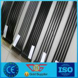 Estiramento PP Uniaxial pretos Geogrid plástico (UX)