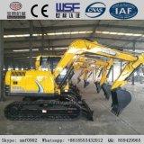 保定の構築機械装置の小さい黄色0.2-0.5m3のバケツのクローラー掘削機機械