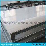 Transparentes Plexiglas warf Acrylblatt