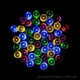 Luz ao ar livre colorida psta solar da corda do Natal de 100 diodos emissores de luz