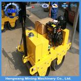 Mini hydraulische doppelte Trommel-kleiner Straßen-Rollen-heißer Verkauf