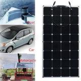 Panneau solaire semi flexible monocristallin de cellules du prix usine 100W Sunpower
