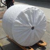 Tela tejida PP impermeable blanca para los bolsos