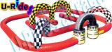A trilha de raça inflável da competência de carro para vai kart