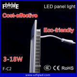 diodo emissor de luz Panel Light de 6W F-C2 Future Square com CE Approval