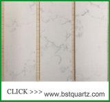 Controsoffitto bianco della pietra del quarzo di apparenza di marmo
