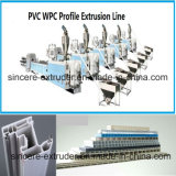 PVC Windows 단면도 PVC 위원회 생산 라인 기계