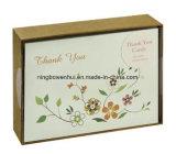 Изготовленный на заказ поздравительные открытки печати/благодарят вас карточки/столб расцветки