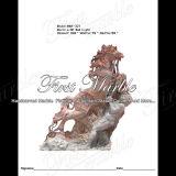 大理石の石造りの花こう岩の動物の彫像のNyの赤灯の馬Ma321